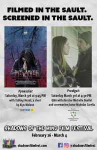 Prodigals will have a Q&A with director Michelle Ouellet and screenwriter/actor Nicholas Care